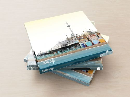 Brighton Skyline Yellow - Glass Coasters